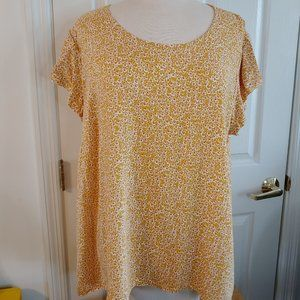 Adrienne Vittadini | Boxy Floral Top | 1X | NWOT